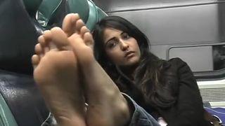 Priya's bare soled shame - Indian bare feet on train