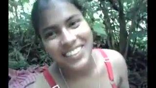 Tamil village girl outdoor fuck