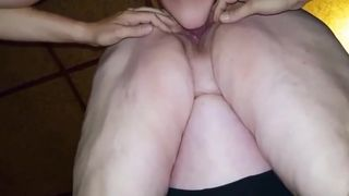 grandmas pissing and pussy creampie after pussy eating