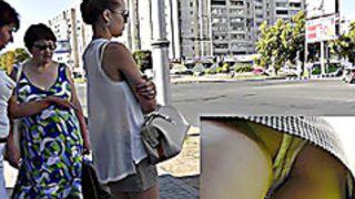 Hot doll in street upskirt episode