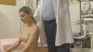 Trickled hidden webcam movie scene of euro golden-haired gyno exam