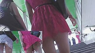 Check out 2 sexy upskirt cuties