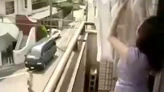 Japanies wife cheat her husband