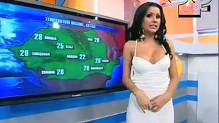 Dark-haired Romanian goddess shows off her body