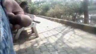 Desi Guy Flashing His Dick To Desi Girls In Garden
