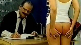 spanking school girl old