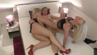 GERMAN STEP MOM DIRTY TINA AND AUNT FUCK SON AND CUM SWAP