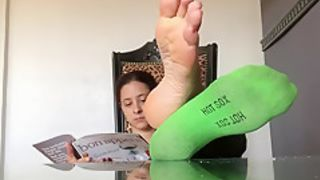 Jamie Daniels soles feet joi