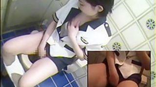 HOT Toilet Masturbation HOT 3 Japanese STEWARDESS
