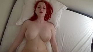 Big tit redhead quivers out of control