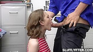 Pervy Officer Lets Tristan Summer Offer Him Something After Getting Caught