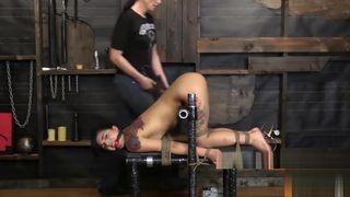 hot sub ebony gets brutal bdsm experience