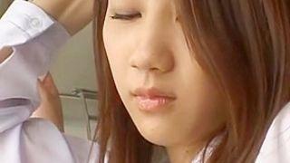 Exotic Japanese girl Akane Mochida, Rina Himekawa in Best Public, Bus JAV scene
