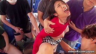 Aimi Nagano in Busty Aimi Nagano is fucked in a bus gangbang - JapanHDV